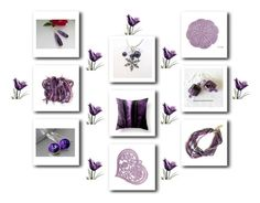 """Purple gifts"" by keepsakedesignbycmm ❤ liked on Polyvore featuring jewelry, accessories and homedecor"