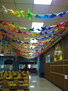 ideas onhow to hang pinwheels for peace indoors - Google Search