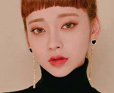 There Is Only One You Earrings - I know you wanna kiss me. Thank you for visiting CHUU. Makeup Korean Style, Ulzzang Makeup, Eye Makeup, Hair Makeup, Korean Fashion Trends, Photo Makeup, Ulzzang Girl, Woman Face, Bob Hairstyles