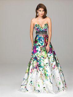 Tye Dye Wedding Dress | via lindsey morgan