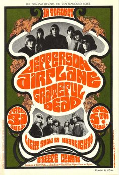 Jefferson Airplane/Grateful Dead Luke, O'Keefe Center, Toronto, Canada August 31 & September 5, 1967.