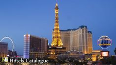 About Paris Las Vegas Hotel and Casino: This French-themed casino hotel with a half-size Eiffel Tower is across the Strip from The Bellagio and a 9-minute walk from a Las Vegas Monorail station. Most rooms feature traditional, European-inspired decor and have marble bathrooms, flat-screen TVs and Wi-Fi. Suites add living areas, minibars, and whirlpool tubs. Room service is available. A resort fee is charged. In addition to the casino, amenities include a 2-acre rooftop pool in a French…