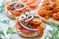 Carrot Lox Recipe from The Colorful Kitchen - Vegan Vegetarian, Vegetarian Recipes, Vegan Food, Vegan Meals, Vegetarian Brunch, Pescatarian Recipes, Savoury Recipes, Healthy Recipes, Lox Recipe