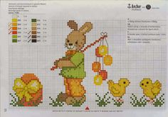 Χειροτεχνήματα: Σχέδια για Πασχαλινά κεντήματα / Easter cross stitch patterns