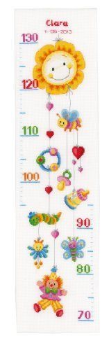 Vervaco-Counted-Cross-Stitch-Kit-Height-Chart-Kit-Clown-Delight