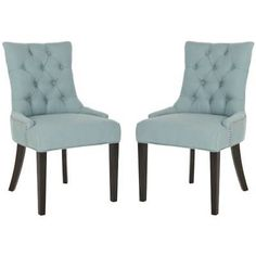 Safavieh MCR4701-SET2 Abby 22 Inch Wide Birch Accent Chairs (Set of 2)