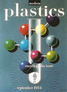 cMag344 - Modern Plastics Magazine cover by Alex Steinweiss / September 1954
