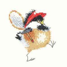 Tennis Chick - Chickadees Cross Stitch Kit by Heritage Crafts