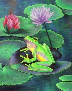 """Frog on Lilypad"" by Vivien Rhyan"