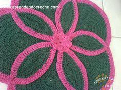 Tapete Segredo de Crochê em Barbante - Tapetes e Toalhas - Aprendendo Croche