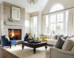 Great living room designs - Are you looking for ideas for your living room decor? Search through ideas of living room design and colors to create your perfect home. Check the webpage for more info. Formal Living Rooms, Home Living Room, Living Room Furniture, Living Room Designs, Brown Furniture, Fireplace Furniture, Rearranging Furniture, Family Furniture, Kitchen Living