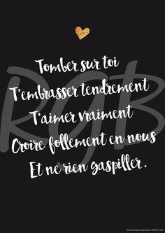 A4 Affiche Amour mon amour affiche citation poster