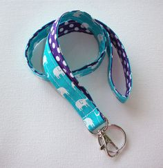 Lanyard  ID Badge Holder  Lobster clasp and key ring  by Laa766 chic / cute / preppy / fabric / patterned / accessories / for you, co-worker or school gifts / home, office decor