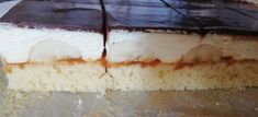 Feine Bananenschnitten - lacky-bakings Webseite! Cheesecake, Food And Drink, Baking, Desserts, Chocolate, Pies, Website, Dessert Ideas, Food And Drinks