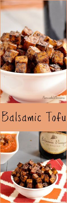 Super simple crispy balsamic tofu: a fantastically flavorful addition to salads, wraps, pasta — and your mouth.