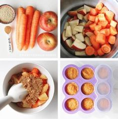 Apple, Carrot & Quinoa Baby Food Recipe Baby Food Recipes 6 9, Baby Carrot Recipes, Healthy Baby Food, Baby Puree Recipes, Homemade Baby Foods, Pureed Food Recipes, Apple Baby Food, Carrot Baby Food, Apple Puree For Baby