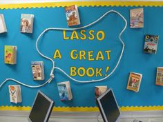 Clutter-Free Classroom: Cowboy / Western Theme Great ideas go back to look Cowboy Bulletin Boards, Library Bulletin Boards, Cowboy Theme, Western Theme, Cowboy Western, Cowboy Girl, Pirate Theme, Western Decor, Library Themes