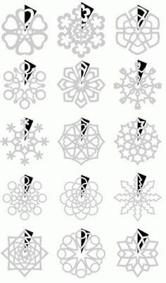 Снежинки.схемы