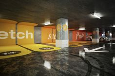Parking Concept by Daniel & Andrew, via Behance