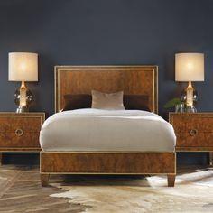 Retro Bed Burl from @zinc_door #zincdoor #bedroom #furniture