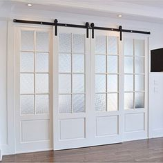 Classic Design Standard Double Track Barn Door Hardware Kit Best Picture For japanese sliding doors For Your Taste You are looking for something, and it is going to tell you exactly what you are looki Door Design, House, Remodel, Basement Remodeling, Room Doors, New Homes, Doors Interior, Sliding Barn Door Hardware, French Doors Interior