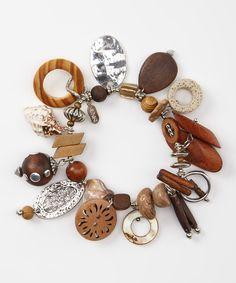 Look at this #zulilyfind! Natural Stretch Charm Bracelet by Treska #zulilyfinds