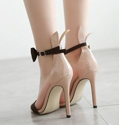 women shoes high heel valentine shoes fashion women shoes sweet  bow rabbit ear high-heeled sandals belt zapatos de mujer
