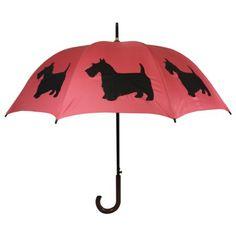 The San Francisco Umbrella Company Walking Stick Rain Umbrella, Scottish Terrier…