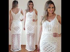 Vestido de Crochê Reveillon Longo Parte 2 de 2 - YouTube