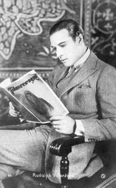 Rudolph Valentino at leisure and without make-up.