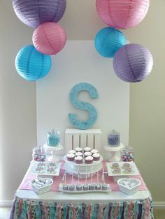 Pink and purple pajama birthday party! See more party ideas at CatchMyParty.com!