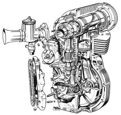 1957 Norton DOHC Engine, - a road racing winner in it's time. Motorcycle Mechanic, Norton Motorcycle, Motorcycle Posters, Motorcycle Bike, Classic Motorcycle, British Motorcycles, Vintage Motorcycles, Enduro, Combustion Engine