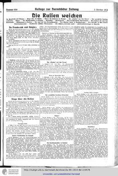 Darmstädter Zeitung: amtliches Organ der Hessischen Landesregierung (1914, Vol. 2) Die Russen weichen