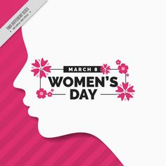 Woman day background with silhouette Free Vector http://ift.tt/2FwSFBk