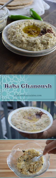 Baba Ghanoush is a rich, creamy and smoky dip/spread that is insanely good with any food you have. Like the Tahini sauce, Baba ghanoush is an authentic Middle Eastern dip, made with fire roasted aubergine – eggplants- and some other stuff. My version of Baba Ghanoush uses only aubergine and 4 other ingredients, that are most likely sitting there in your pantry/fridge.