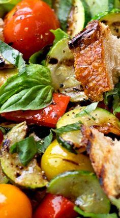 Grilled Panzanella Salad ^