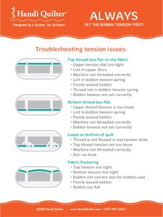 HQ Infographic: Troubleshooting Tension Issues                                                                                                                                                      More