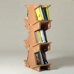 cardboard modular bookcase system