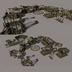 3ds max ancient city ruin