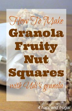 When Udi's sent me a large package of all of their goodies, I immediately fell in love with the vanilla granola. This recipe is already gluten free so using the granola as a substitute would be the perfect fit.