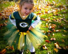 Custom Sports Tutu, Green Bay Packers colors shown, can do most team colors, Football, NFL,  for babies, toddlers, and girls..... Just 2 cute