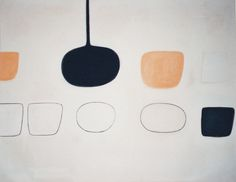 William Scott, Nine Forms, 1970, Oil on canvas, 155 × 197 cm / 61 × 77½ in, Private collection
