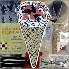 """Donald Baechler, """"Extrablanca"""" 1998 Acrylic & fabric collage on canvas 60 x 60 inches"""
