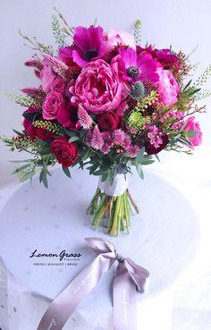 Prom Flowers, Bridal Flowers, Flower Bouquet Wedding, Floral Wedding, Hot Pink Bouquet, Beautiful Flower Arrangements, Wedding Flower Arrangements, Floral Arrangements, Beautiful Flowers