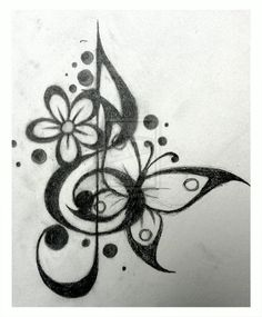 Tattoo Design - Treble Cleff 1 by Dawn773.deviantart.com