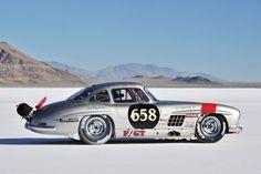 Mercedes 300 SL gullwing land speed racer - Bonneville Speed Week 2013