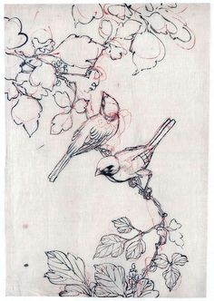 Amazing Pen and Ink Cross Hatching Masters Edition Ideas. Incredible Pen and Ink Cross Hatching Masters Edition Ideas. Brush Drawing, Plant Drawing, Drawing Flowers, Japanese Bird, Tatoo Art, Tattoo Bird, Branch Tattoo, Two Birds Tattoo, Art Tattoos