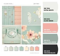 Chip It! by Sherwin-Williams – Home Mint and Coral Mint Girls Room, Mint Rooms, Girl Room, Bedroom Green, Bedroom Colors, Coral Mint Bedroom, Mint Coral, Pink, Mint Bathroom