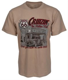 Cruizin' The Mother Road Route 66 T-Shirt - Free Shipping on Orders Over $99 at Genuine Hotrod Hardware
