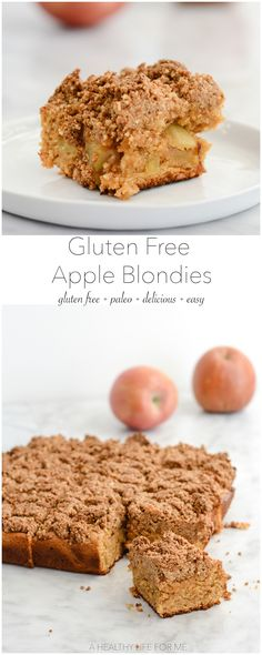 Gluten Free Apple Blondies - A Healthy Life For Me